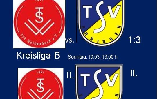 TSV Waldenbuch – TSV Ehningen 1:3 (1:1)