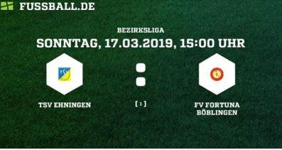 Bezirksliga: TSV Ehningen – FV Fortuna Böblingen (Sonntag, 15:00 Uhr)