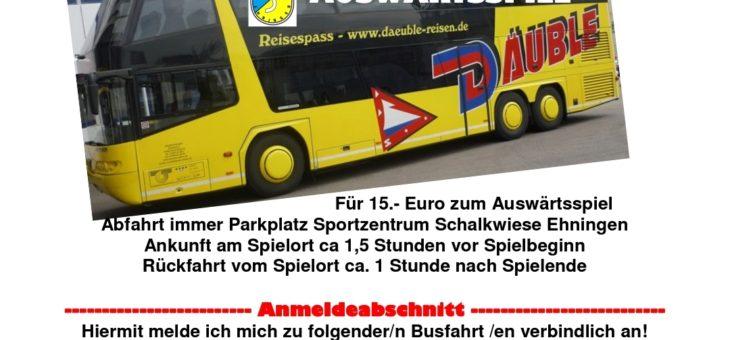 Busfahrt zum Auswärtsspiel