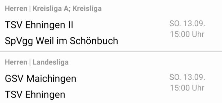 1.Mannschaft in Maichingen – 2.Mannschaft auf der Schalkwiese