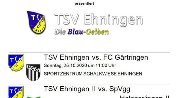 Neue Infos zum Frühschoppenderby – Spiel Ehningen II abgesagt!